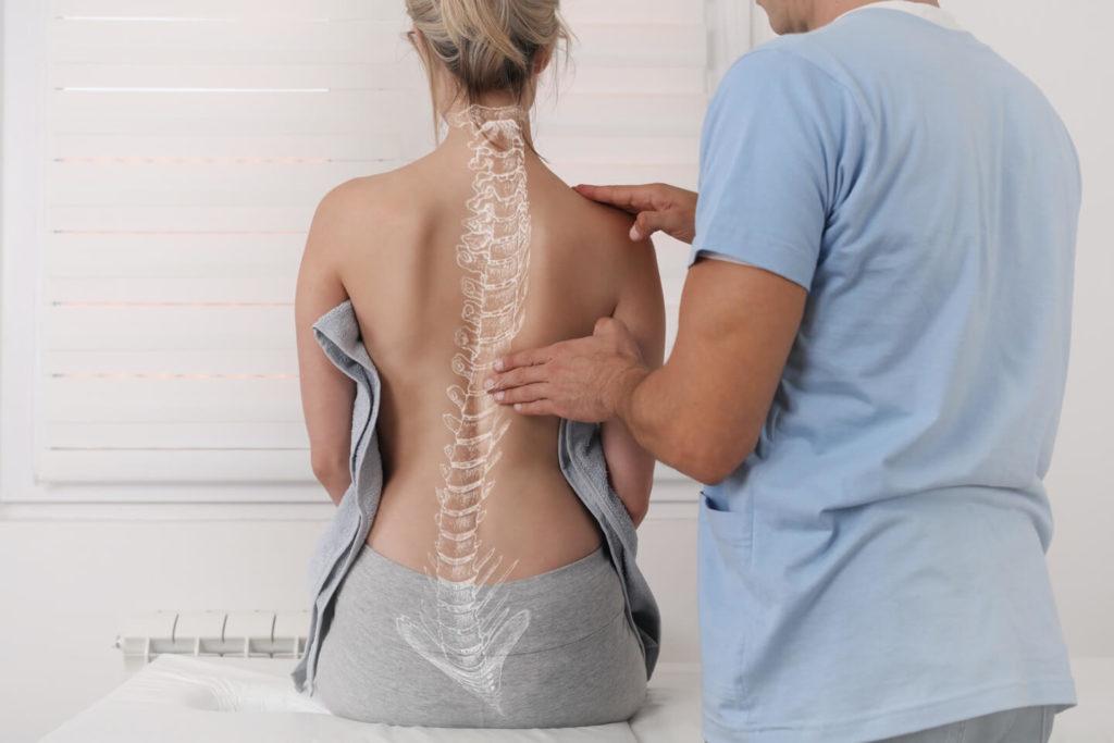 Untersuchung der Wirbelsauele in der Orthopaedie